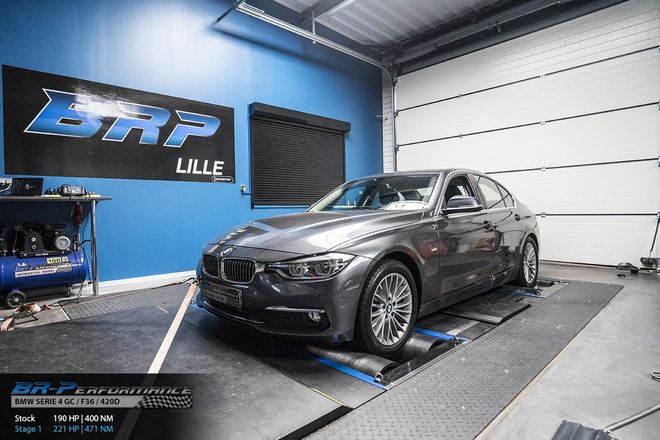 bmw serie 4 gc f36 420d stage 1